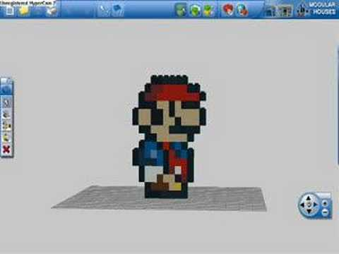 More of my lego digital designer creations youtube for Digital blueprint maker