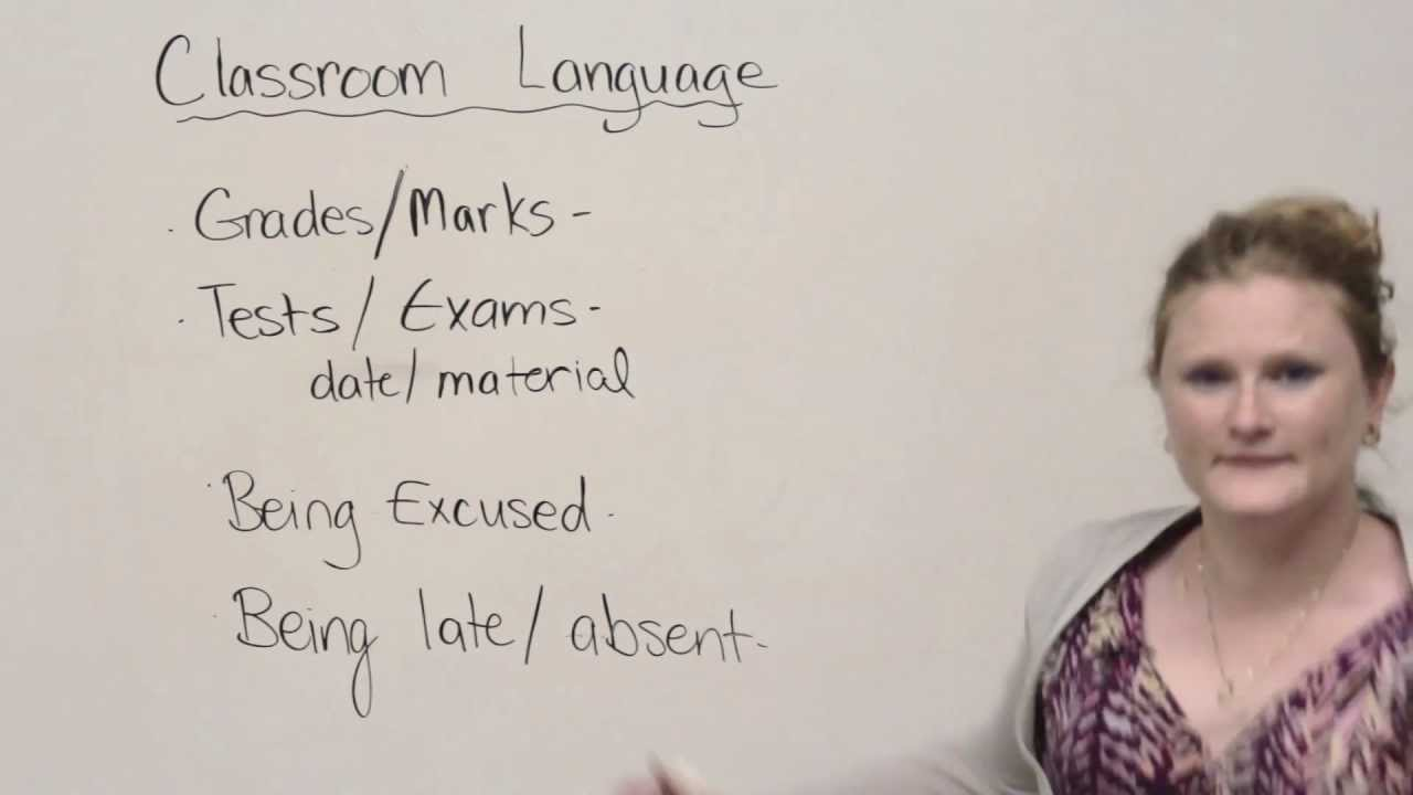 Speaking English – Classroom vocabulary and expressions · engVid