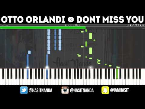 Otto Orlandi & Manyfew feat. Melania Fontana - Don't Miss You (Piano Tutorial)