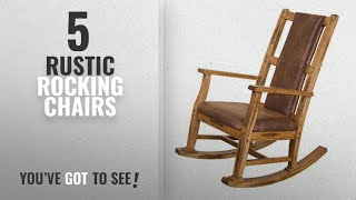 Top 10 Rustic Rocking Chairs [2018]: Sunny Designs 1935RO-2 Sedona Rocker with T-Fabric Seat and