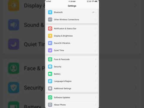 How to Change fonts OPPO A83 2018