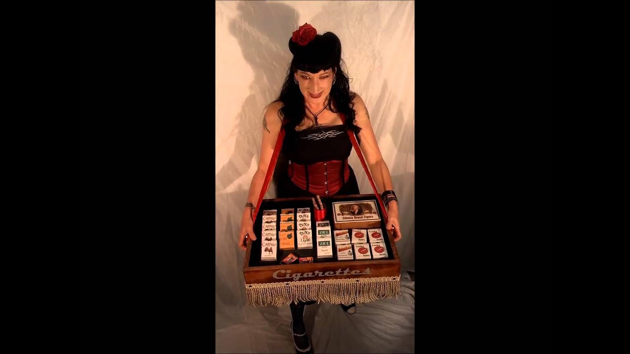 Cigarette Girl Tray Youtube