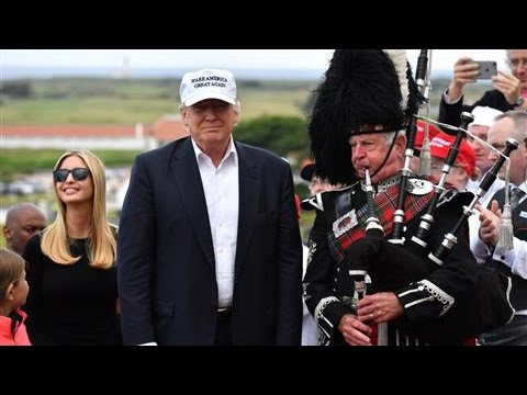 Trump Takes Mix of Politics and Business to Scotland