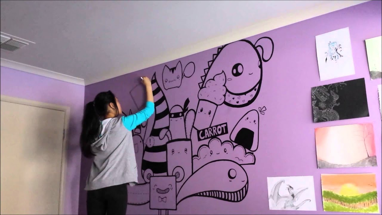 Speed Painting - Wall art by Julie - YouTube