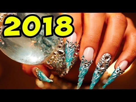 Дизайн новогодний ногти 2018