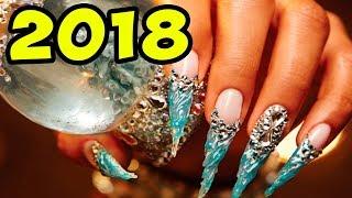 видео Новогодний маникюр 2018: лучшие идеи