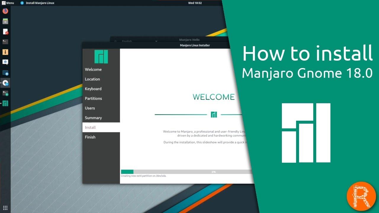 How to install Manjaro Gnome 8.8