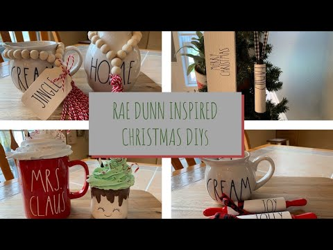 DIY RAE DUNN INSPIRED CHRISTMAS DECOR | MARSHMALLOW MUG TOPPER | CUTEST FARMHOUSE CHRISTMAS DIY'S