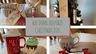 DIY RAE DUNN INSPIRED CHRISTMAS DECOR | MARSHMALLOW MUG TOPPER | CUTEST FARMHOUSE CHRISTMAS DIY'S