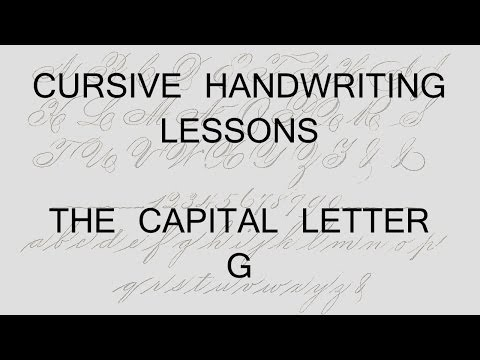 Cursive lesson 37 Capital letter G handwriting penmanship calligraphy copperplate