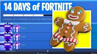 *NEW* 14 DAYS OF FORTNITE GIFT EVENT - FREE Fortnite Christmas Challenges! (Fortnite Battle Royale)