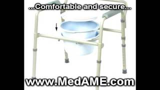 Folding toilet chairs for disabled handicap bed or bath room