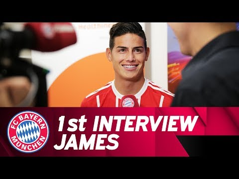"""I am very excited"" - James Rodríguez's First FC Bayern Interview"