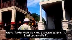 439 E 1st St, Jacksonville, FL - City's reason for demolishing the entire historic structure