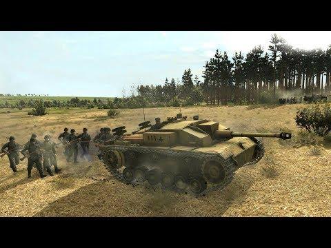 Realistic WW2 Strategy about War in Desert ! Game Tank Warfare Tunisia 1943