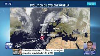 L'ouragan Ophelia devrait épargner la France mais toucher l'Irlande lundi
