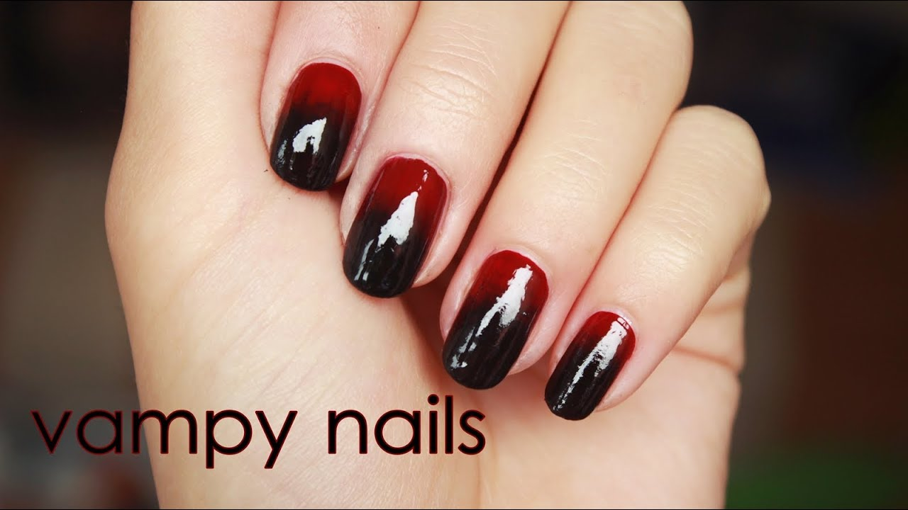 Vampy nails for fall - YouTube