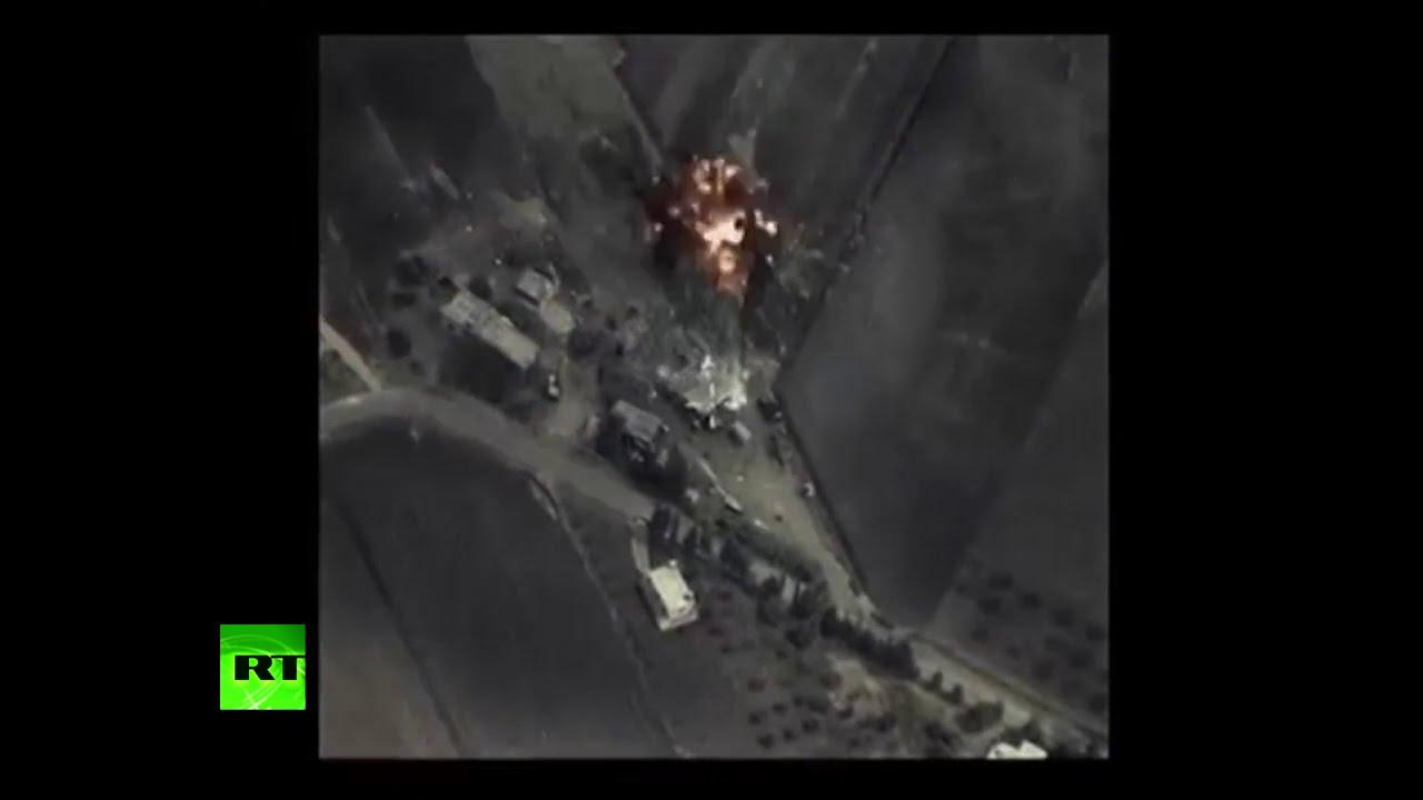 Publican el primer video del operativo ruso en Siria contra el Estado Islámico