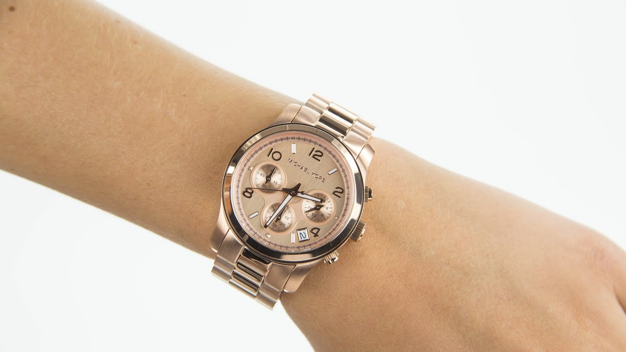 ladies bracelet watch rose real gold watches kors tone youtube michael