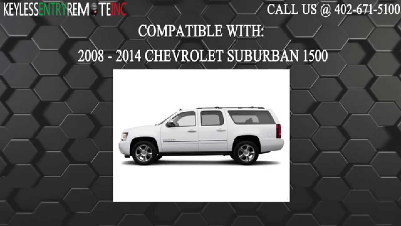 How To Replace Chevrolet Suburban 1500 Key Fob Battery 2008 2009 2010 2011 2012 2013 2014