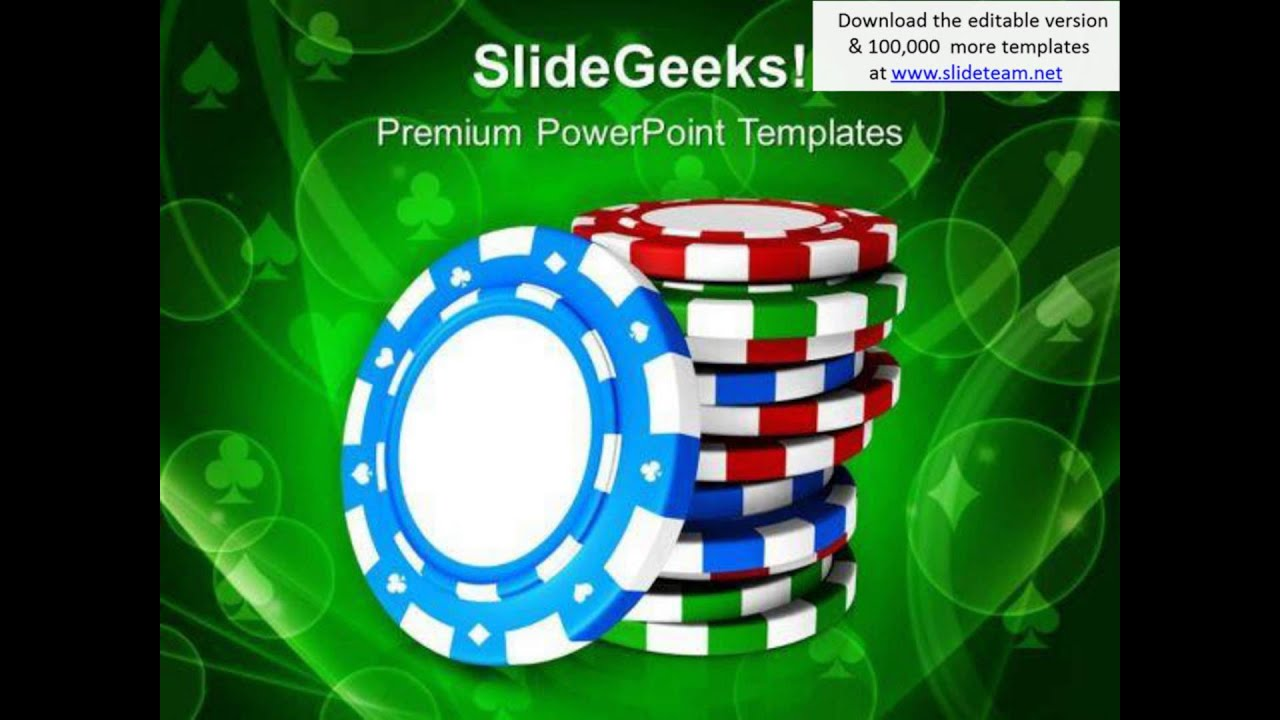 Casino Theme With Poker Game Powerpoint Templates Ppt