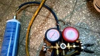 Como cargar gas a una heladera cambio de R12 a R134A