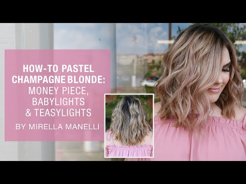 How-to Pastel Champagne Blonde: Money Piece, Babylights & Teasylights | Kenra Color