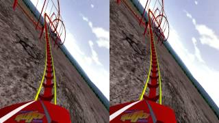 3D Rollercoaster: Nitro XL (3D Side by Side for PC/3D phones/3DTVs/Crossed Eyes)