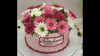 НЕ ОЖИДАЛА такого РЕЗУЛЬТАТА НЕВЕРОЯТНО Красивый Торт ЛУЧШИЙ Велюр из МАЛИНЫ Красивый торт