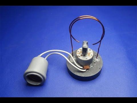 Magnet with Light Bulb220v For free energy Generator