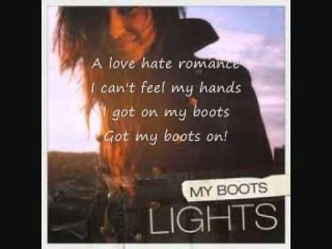 Lights My Boots Acoustic Version with lyrics