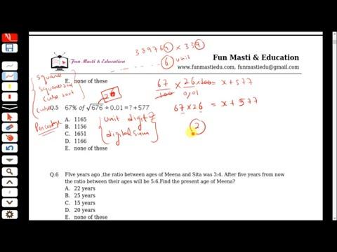 Quantitative aptitude - mock test ( Part-1)