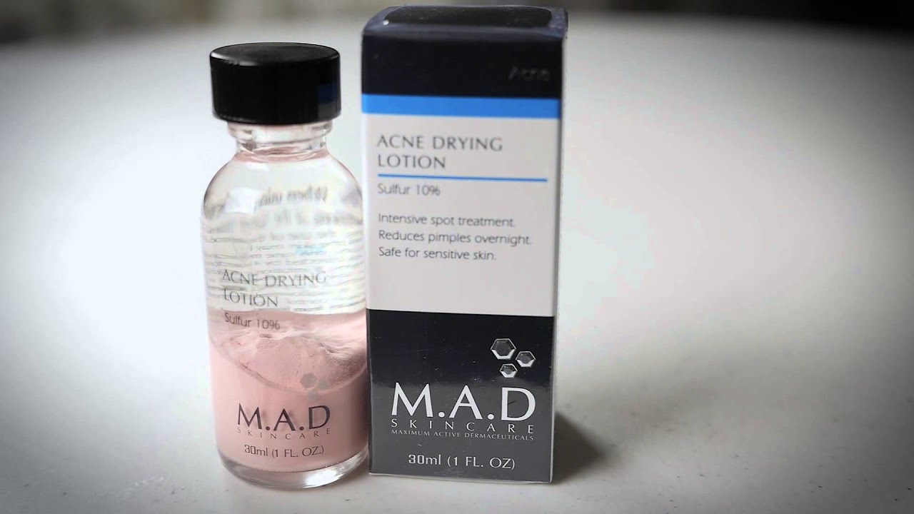 M A D Skincare Acne Drying Lotion with Sulfur California Skincare Supply  The Estheticians Edge