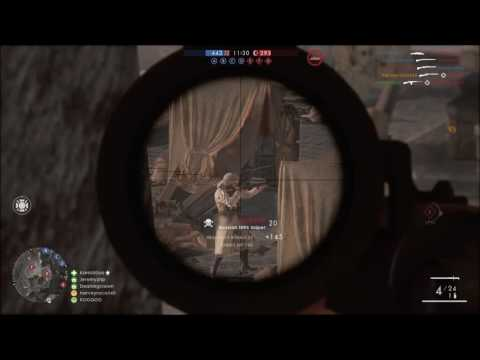 BF1 Moments: Sniping behind enemy lines | Russian 1895 Sniper