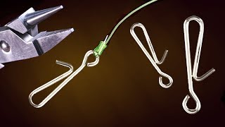 SNAPS C/ Engate FRANCÊS CASEIRO para CHICOTE de PESCA de PRAIA ◆ SURFCASTING - Fishing Life Hacks