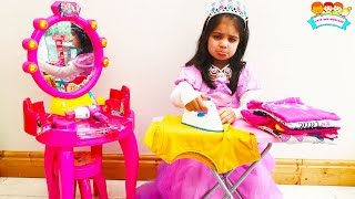 Cinderella Story Ashu Pretends Play Princess and Cleaning Play house for Kids