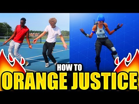 HOW TO ORANGE JUSTICE DANCE TUTORIAL! FORTNITE DANCE TUTORIAL!