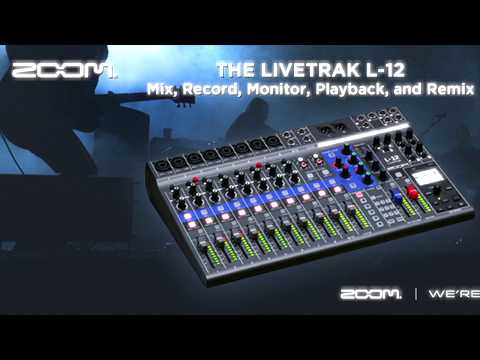 Zoom LiveTrack L-12 tutorial en español 1