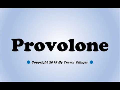 How To Pronounce Provolone - 동영상