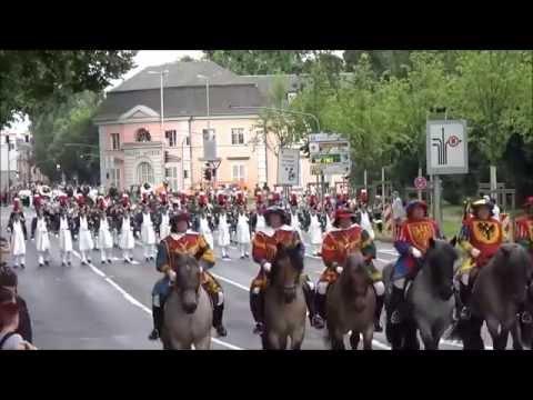 Schützenfest Düsseldorf 20160717 Video 18 Schützenzug Maximilian Weyhe Allee V2 Zug YT