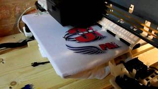 Repeat youtube video Home made T-shirt printer.
