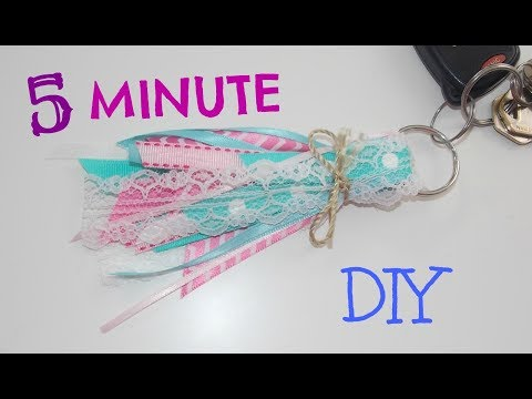 5 MINUTE DIY I Ribbon Keychain I DIYwithTanya