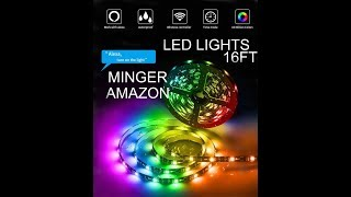 (EPISODE 2509) AMAZON PRIME UNBOXING: MINGER DreamColor  LED  Lights Work with Amazon Alexa @amazon