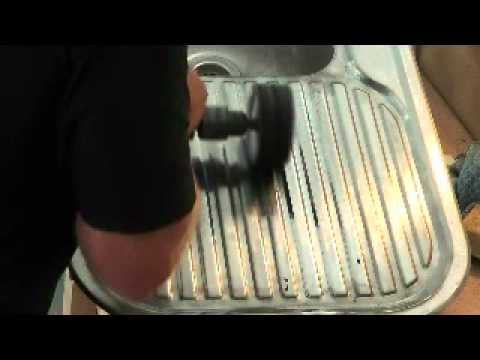 Restoring A Stainless Steel Sink Youtube