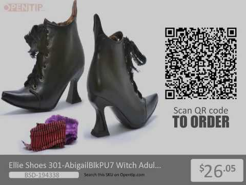 Ellie Shoes Witch Adult Black Small Heel Boots From Opentip.com