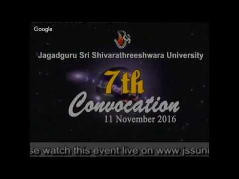 JSS University, Mysuru 7th Convocation 11 November 2016.