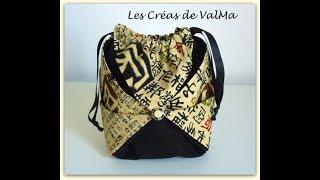 Pochon -  sac chinois origami - Tuto couture ValMa