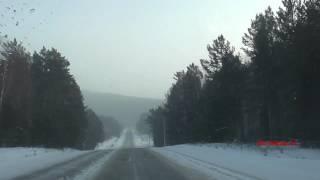 Дорога до Листвянки. Отдых на Байкале зимой.