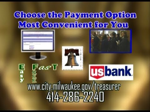 Milwaukee City Treasurer-Paying Property Taxes At 11 US Bank Locations