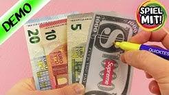 IST DER GELDSCHEIN ECHT ODER GEFÄLSCHT? Stift testet Banknoten auf Echtheit - Geldscheintester